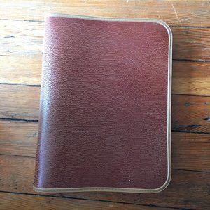Vintage genuine cowhide zippered portfolio/binder
